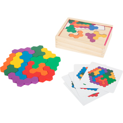 Hexagon Wooden Puzzle Learning Game