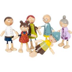 Wooden Bending Dolls Family